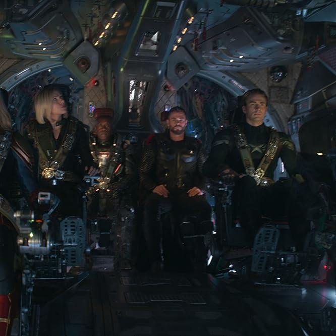 Don Cheadle, Bradley Cooper, Chris Evans, Scarlett Johansson, Brie Larson, and Chris Hemsworth in Avengers: Endgame (2019)