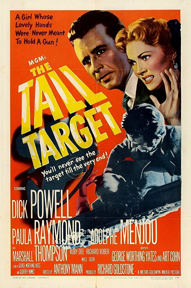 Paula Raymond and Dick Powell in The Tall Target (1951)