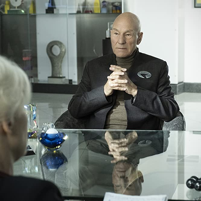 Patrick Stewart and Ann Magnuson in Star Trek: Picard (2020)