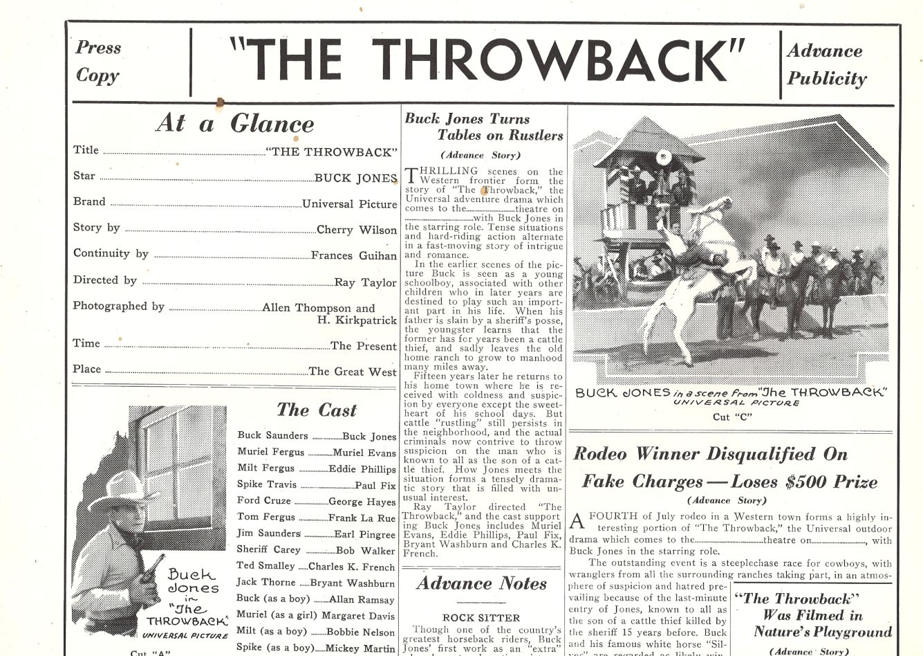 Buck Jones and Silver in The Throwback (1935)