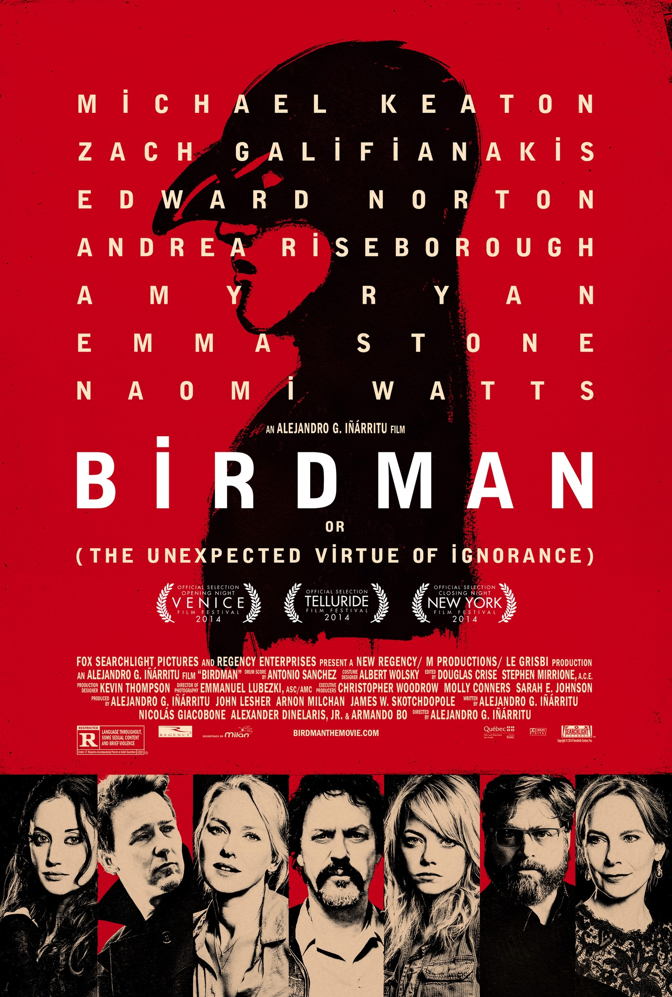 Image result for birdman movie poster""
