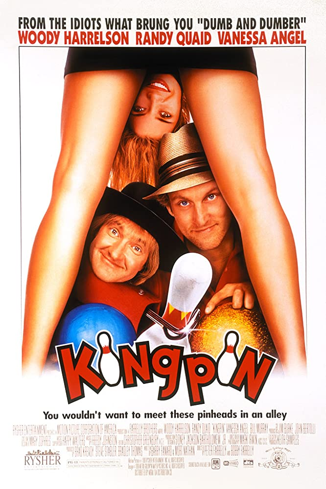 Woody Harrelson, Randy Quaid, and Vanessa Angel in Kingpin (1996)