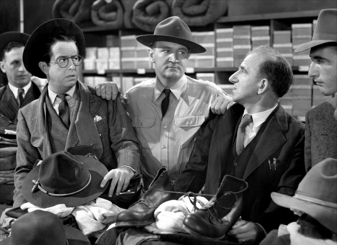 Jimmy Durante, Joe Sawyer, and Phil Silvers in You're in the Army Now (1941)