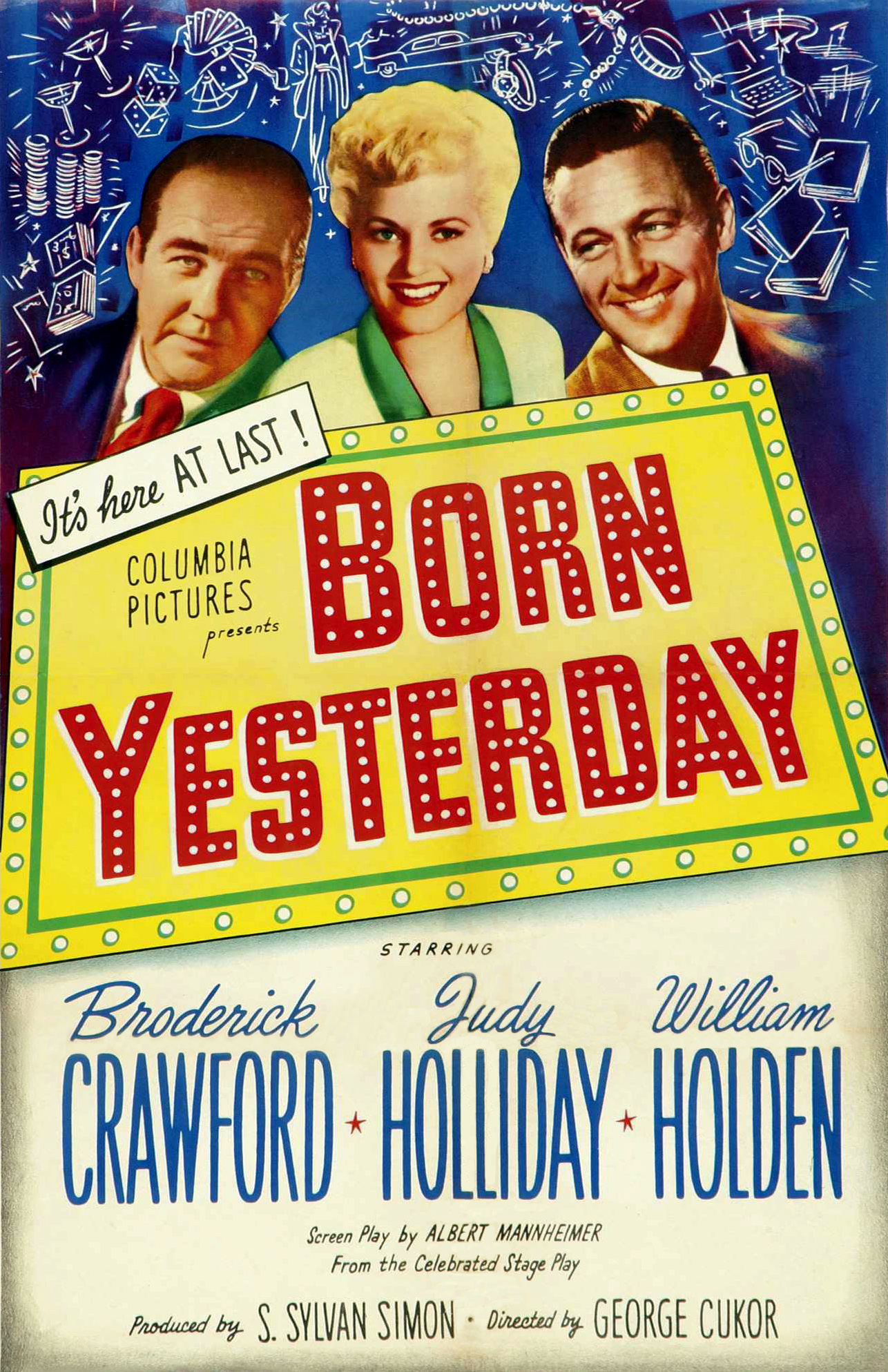 Image result for 1950 academy award for judy holliday