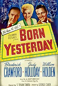 William Holden, Broderick Crawford, and Judy Holliday in Born Yesterday (1950)