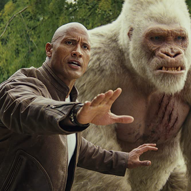 Dwayne Johnson and Jason Liles in Rampage (2018)