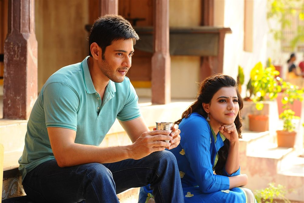 Mahesh Babu and Samantha Ruth Prabhu in Brahmotsavam (2016)