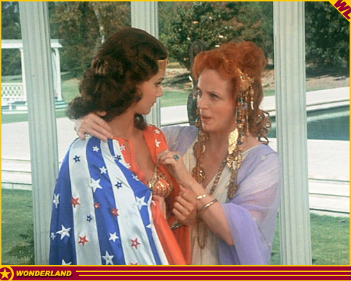 Lynda Carter and Beatrice Straight in Wonder Woman (1975)