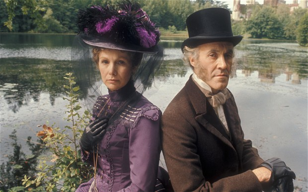 Susan Hampshire and Philip Latham in The Pallisers (1974)