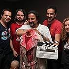 The Inhuman Resources (aka Redd Inc) team. L-R Daniel Krige, Anthony O.Connor, Tom Savini, Jonathon Green, Sandy Stevens