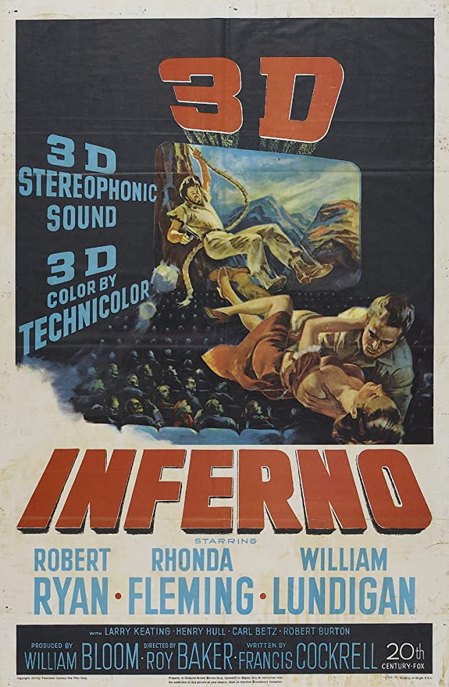 Rhonda Fleming, William Lundigan, and Robert Ryan in Inferno (1953)