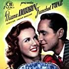 Deanna Durbin and Franchot Tone in His Butler's Sister (1943)