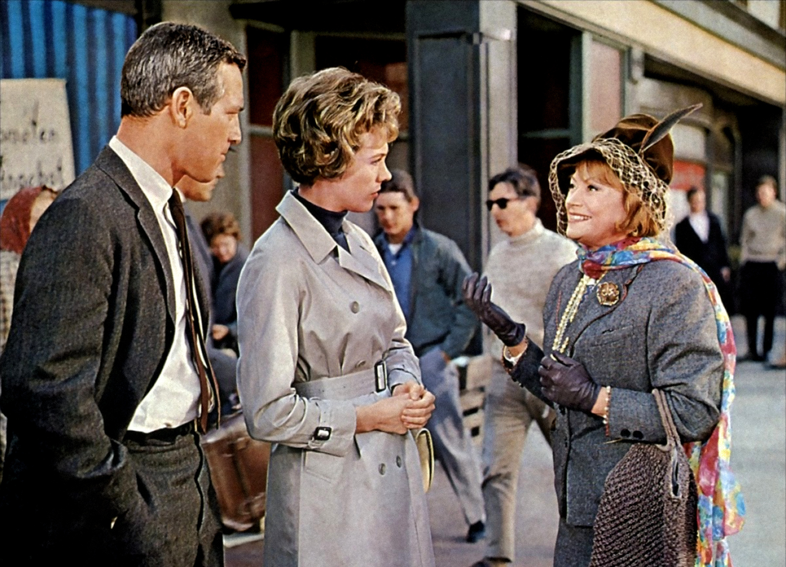 Paul Newman, Julie Andrews, and Lila Kedrova in Torn Curtain (1966)