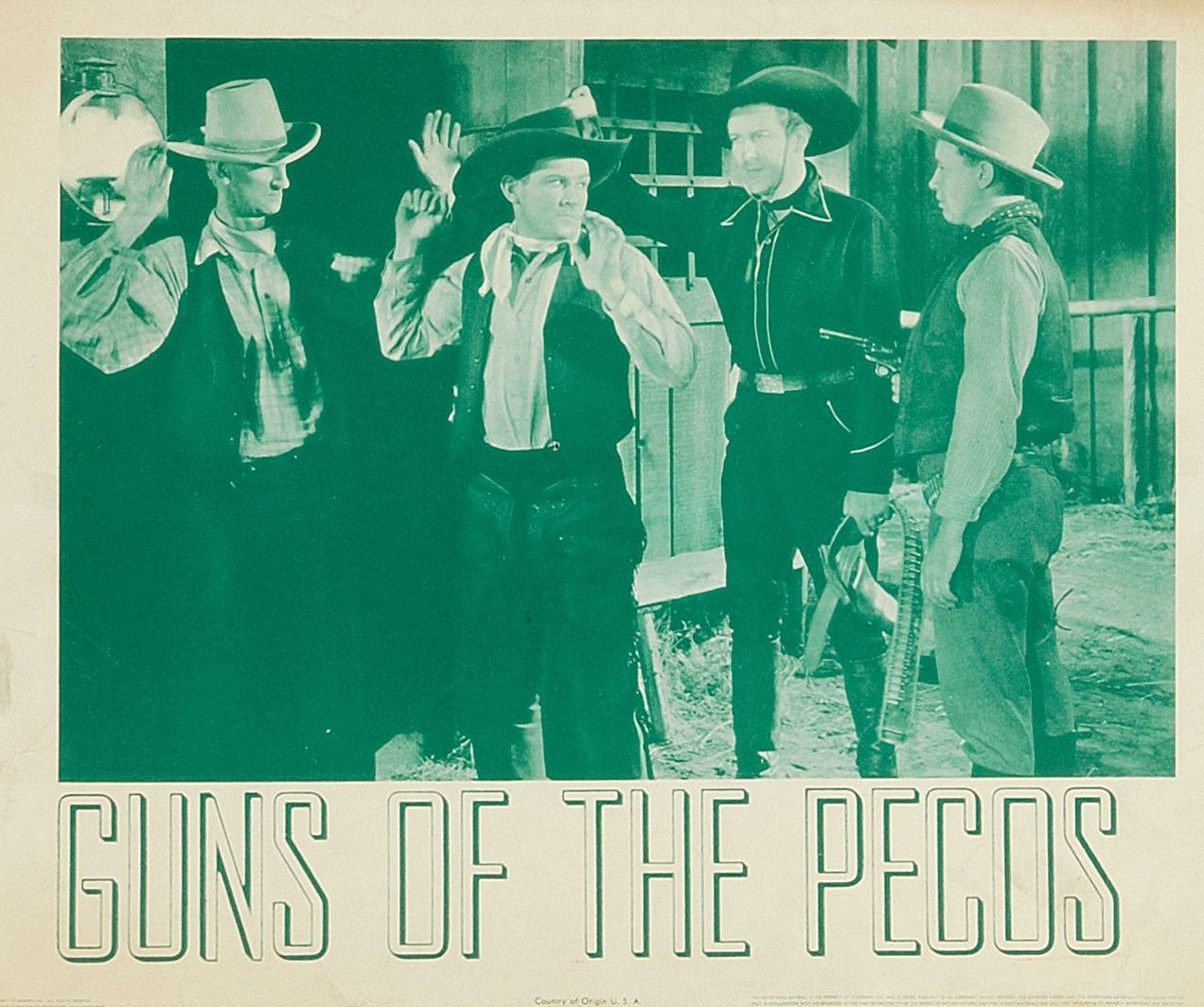 Eddie Acuff, Dick Foran, and Bob Woodward in Guns of the Pecos (1937)