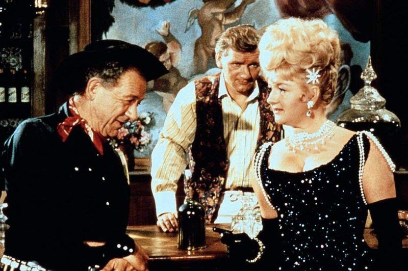 Percy Herbert, Sidney James, and Joan Sims in Carry On Cowboy (1965)