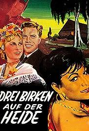 Drei Birken auf der Heide Poster
