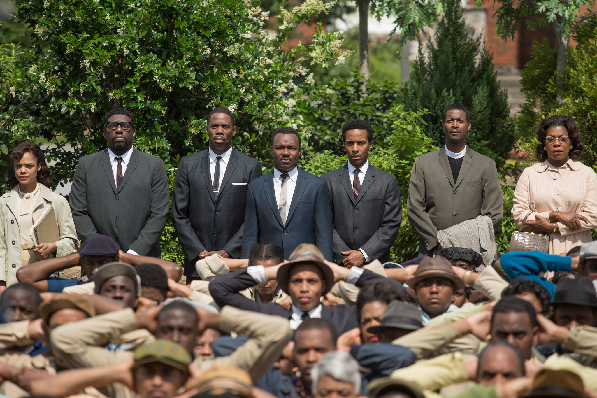 Lorraine Toussaint, Colman Domingo, David Oyelowo, Corey Reynolds, Tessa Thompson, and Lontrell Anderson in Selma (2014)