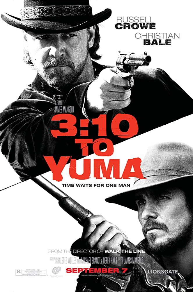 Russell Crowe, Christian Bale, Peter Fonda, Gretchen Mol, Ben Foster, Vinessa Shaw, Kevin Durand, Luce Rains, Logan Lerman, Alan Tudyk, Johnny Whitworth, and Dallas Roberts in 3:10 to Yuma (2007)