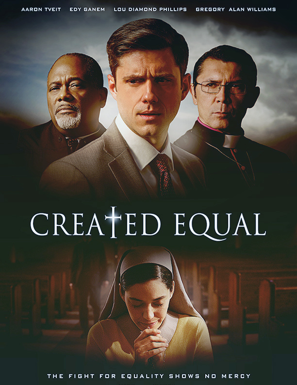 Lou Diamond Phillips, Gregory Alan Williams, Edy Ganem, and Aaron Tveit in Created Equal (2017)