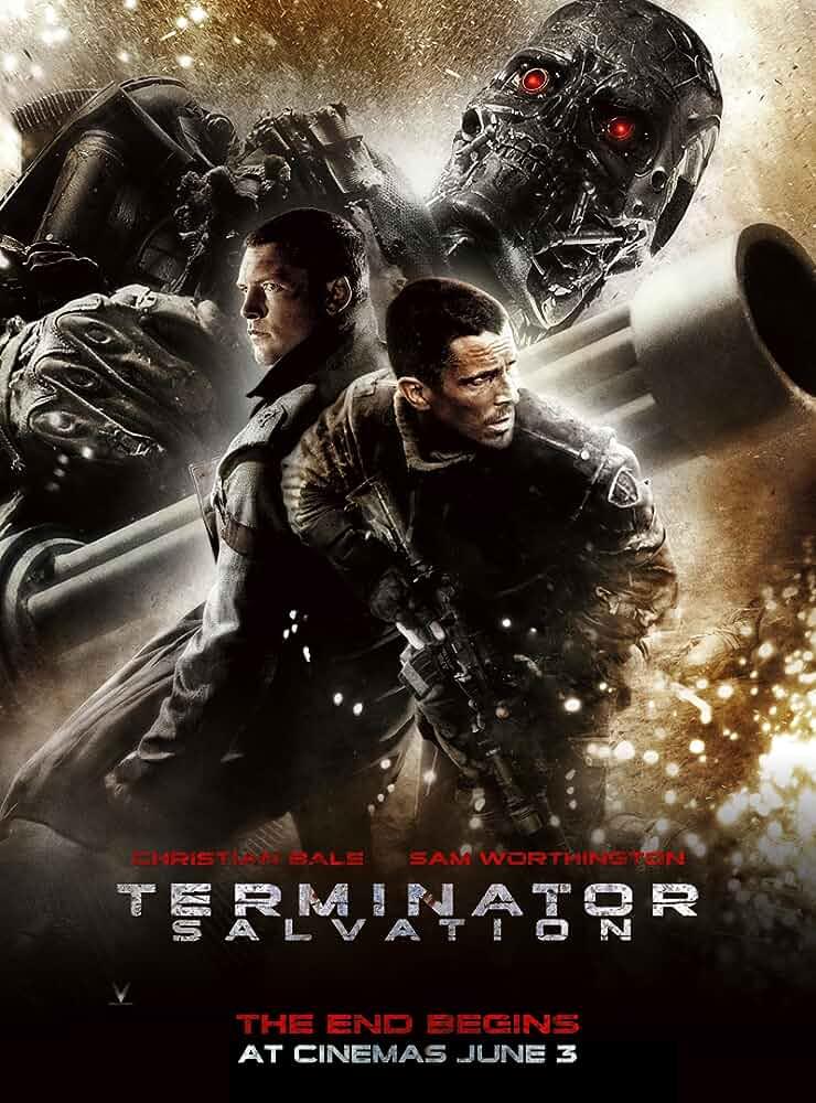 Christian Bale and Sam Worthington in Terminator Salvation (2009)