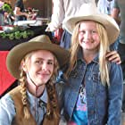 """Actress Ellary Porterfield and me. I played her daughter in the """"High Plains Drifter"""" episode. — in Agoura Hills, California."""