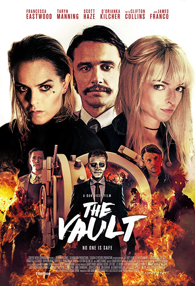 Clifton Collins Jr., Francesca Eastwood, James Franco, Q'orianka Kilcher, Taryn Manning, Scott Haze, and Jeff Gum in The Vault (2017)