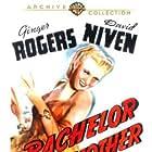 David Niven, Ginger Rogers, and Elbert Coplen Jr. in Bachelor Mother (1939)