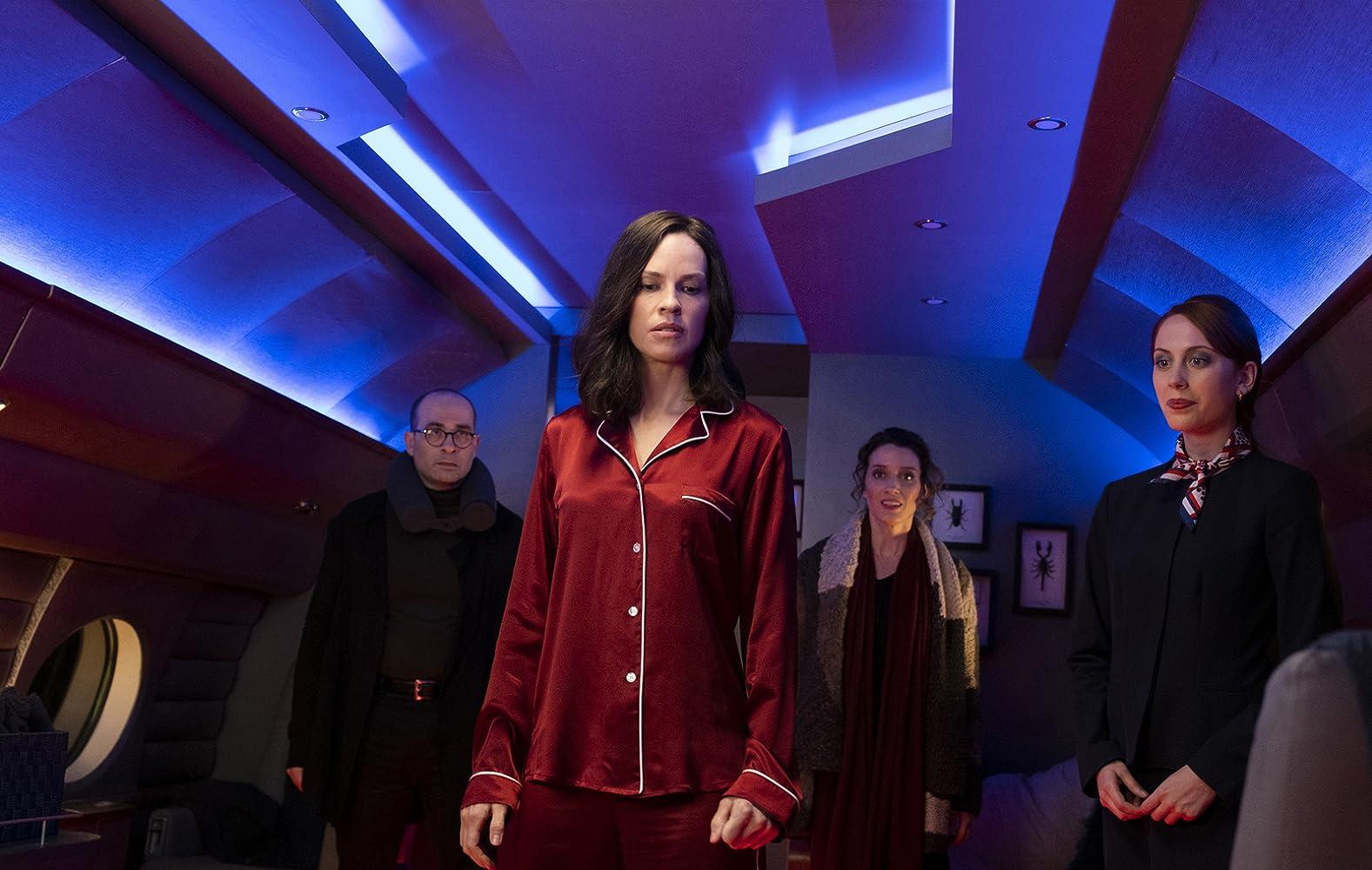 Hilary Swank, Vince Pisani, Teri Wyble, and Hannah Alline in The Hunt (2020)