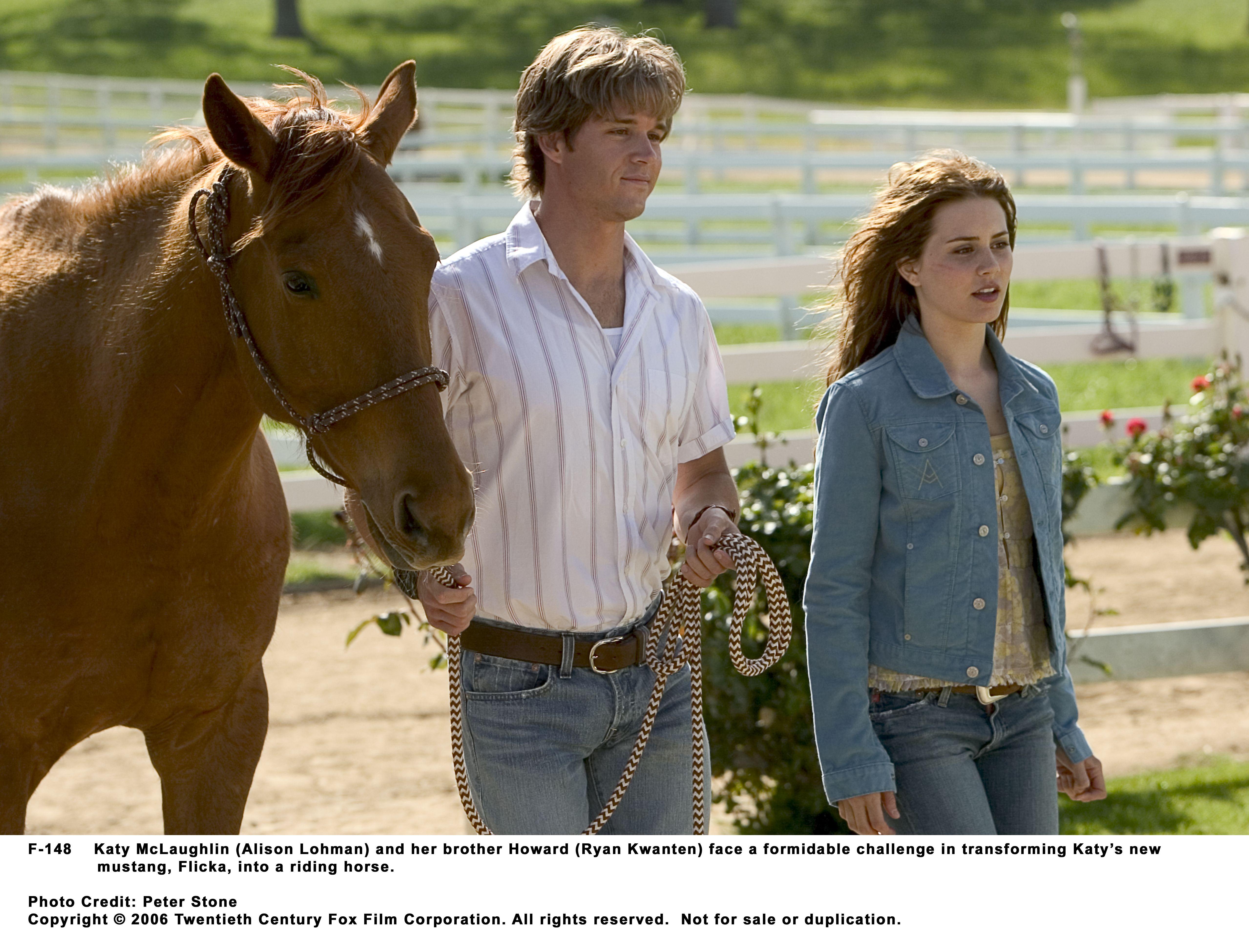 Ryan Kwanten and Alison Lohman in Flicka (2006)