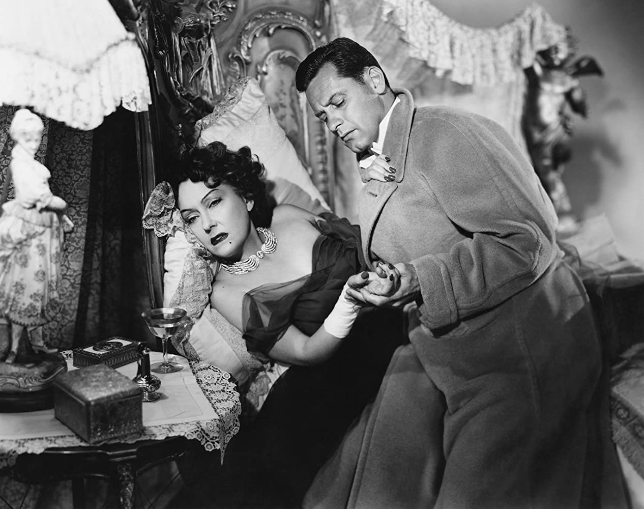William Holden and Gloria Swanson in Sunset Blvd. (1950)