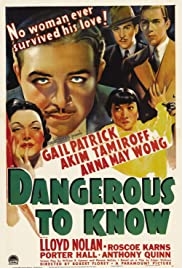 Dangerous to Know Poster