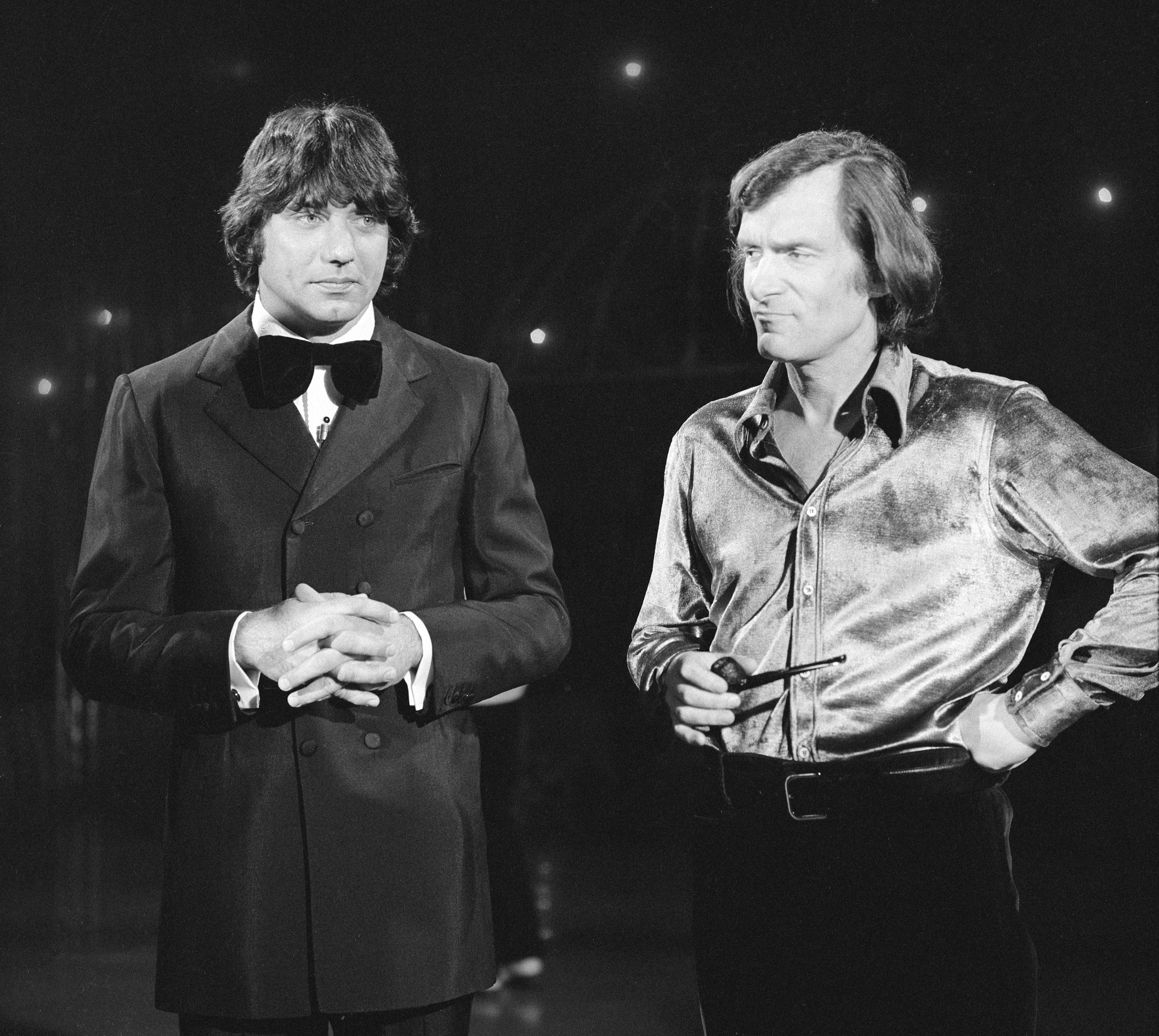 Hugh Hefner and Joe Namath at an event for The Sonny and Cher Comedy Hour (1971)