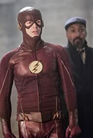 Jesse L. Martin and Grant Gustin in The Flash (2014)