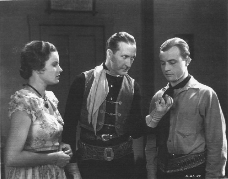 Tim McCoy, Dwight Frye, and Nora Lane in The Western Code (1932)