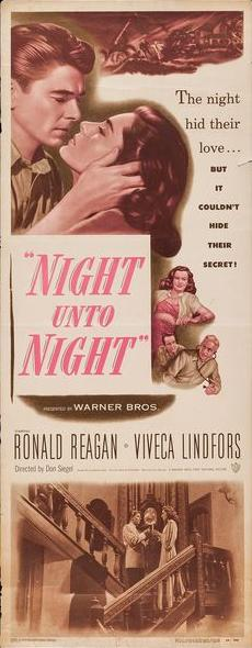 Ronald Reagan and Viveca Lindfors in Night Unto Night (1949)