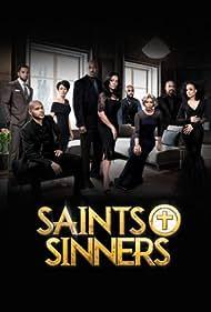Vanessa Bell Calloway, Donna Biscoe, J.D. Williams, Clifton Powell, Keith D. Robinson, Tray Chaney, Christian Keyes, Demetria McKinney, and Jasmine Burke in Saints & Sinners (2016)