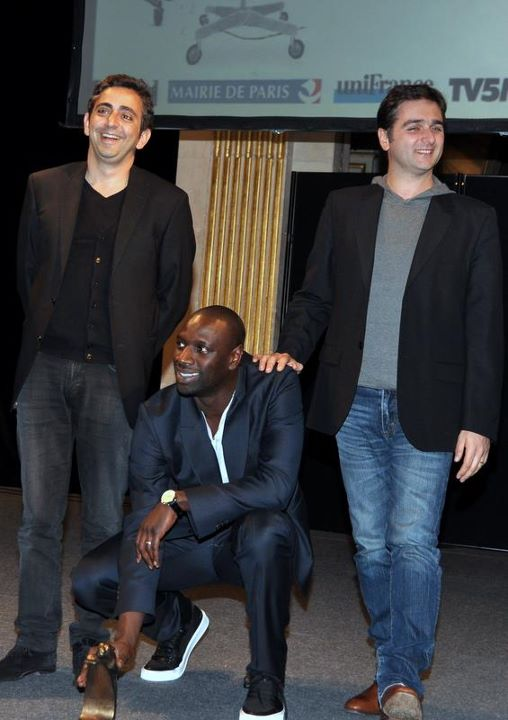 Olivier Nakache, Éric Toledano, and Omar Sy at an event for Intouchables (2011)