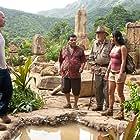 Michael Caine, Luis Guzmán, Dwayne Johnson, Vanessa Hudgens, and Josh Hutcherson in Journey 2: The Mysterious Island (2012)