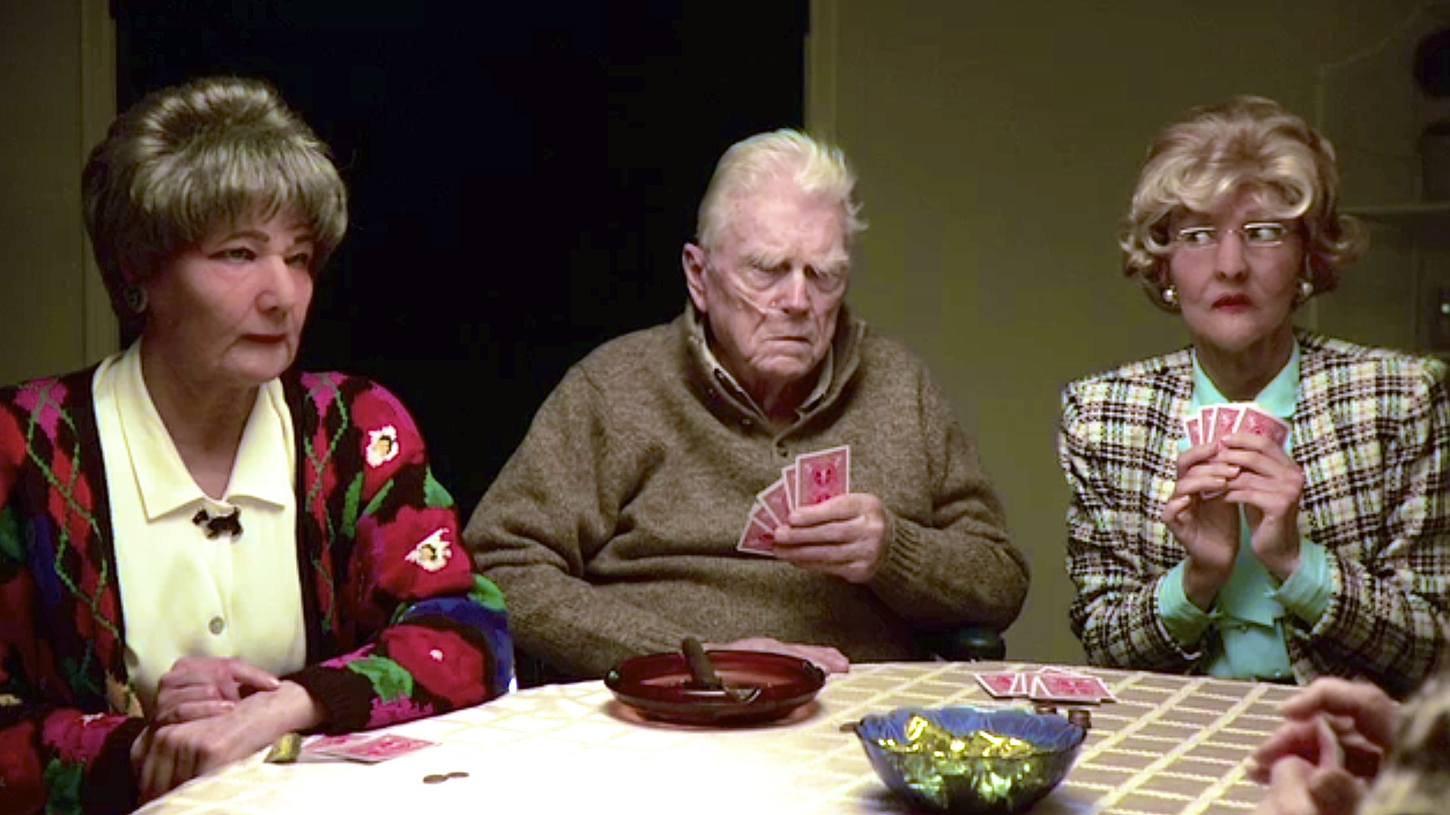 """L to R: Honora Talbott, Gordon Wells, and Sarah Smick in """"Old Souls"""""""