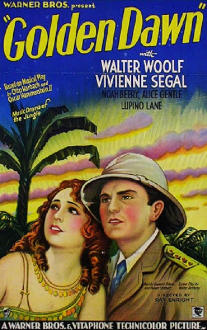 Walter Woolf King and Vivienne Segal in Golden Dawn (1930)
