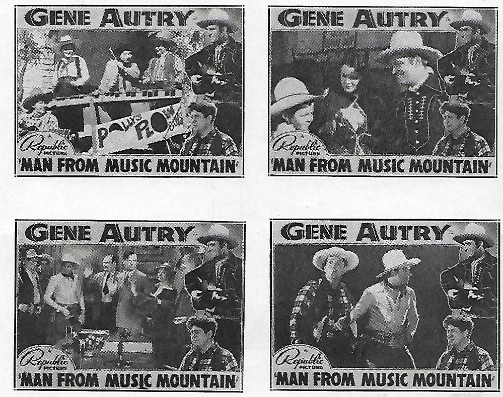 Gene Autry, Smiley Burnette, Ed Cassidy, Carol Hughes, Ivan Miller, Sally Payne, Polly Jenkins, Polly Jenkins and Her Plowboys, and Al Terry in Man from Music Mountain (1938)