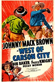 Bob Baker, Johnny Mack Brown, and Fuzzy Knight in West of Carson City (1940)