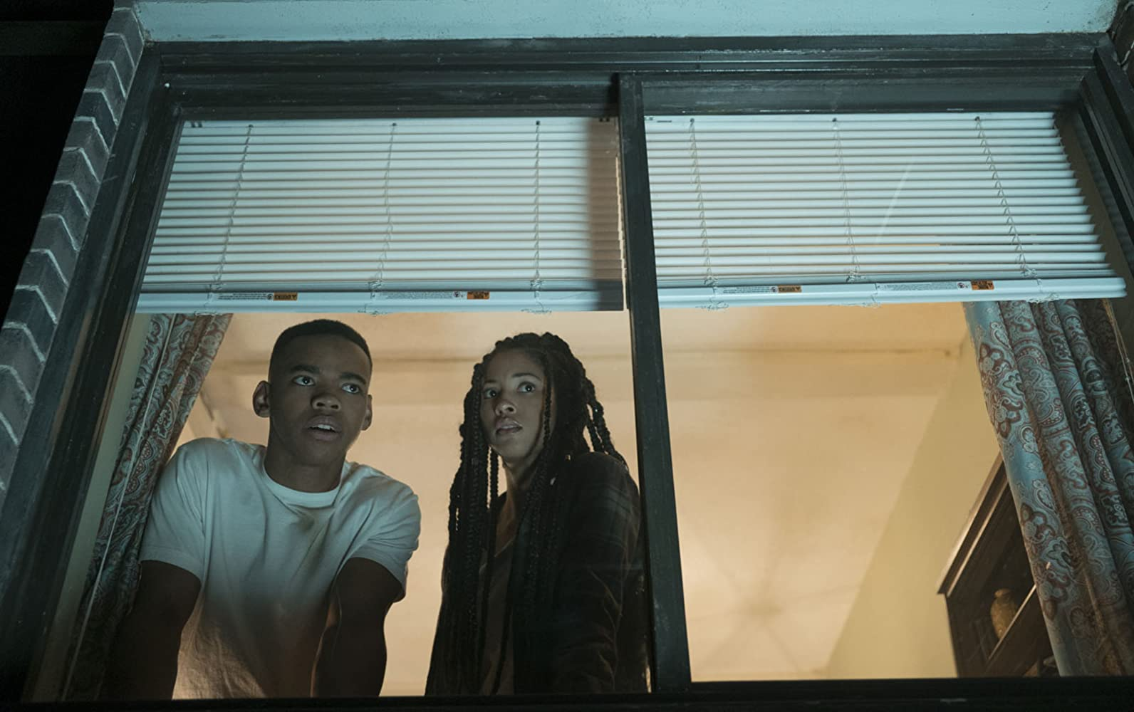 Joivan Wade and Lex Scott Davis in The First Purge (2018)