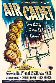 Rock Hudson, Robert Arthur, Charles Drake, Richard Long, Stephen McNally, Alex Nicol, and Gail Russell in Air Cadet (1951)