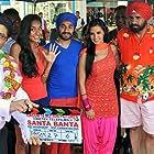 Boman Irani, Neha Dhupia, Akashdeep Saigal, Vir Das, and Lisa Haydon in Santa Banta Pvt Ltd (2016)