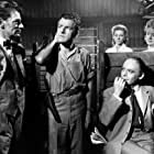 Lauren Bacall, Herbert Lom, Eugene Deckers, Ursula Jeans, and Kenneth More in North West Frontier (1959)