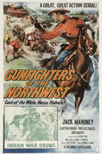 Jock Mahoney and Rodd Redwing in Gunfighters of the Northwest (1954)