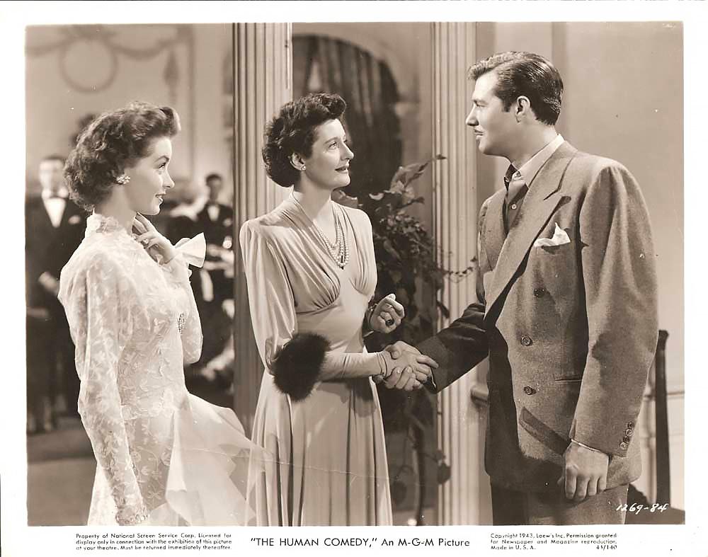 Katharine Alexander, James Craig, and Marsha Hunt in The Human Comedy (1943)