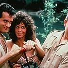 Tom Hanks, John Candy, and Rita Wilson in Volunteers (1985)