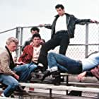 John Travolta, Jeff Conaway, Barry Pearl, Michael Tucci, and Kelly Ward in Grease (1978)